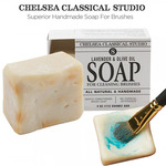 Lavender & Olive Oil All Natural Brush Cleaner & Conditioning Soap