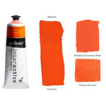 Interactive Professional Acrylic 80 ml Tube - Cadmium Orange