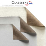 Claessens Oil Primed Linen Rolls - Medium Texture