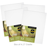 Box of 4 Ampersand Claybord 2In Cradle 6X8