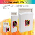 Creative Inspirations Super Value Stretched Canvas 5-Packs