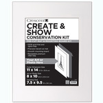 "Crescent Create and Show Conservation Kit 11x14"" (Opening 7.5 x 9.5"") - Super White"