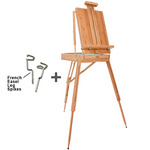 Dali Bamboo Deluxe French Easel with Leg Spikes
