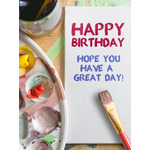 Birthday Art eGift Card - Painted on Canvas - Electronic Gift Card eGift Card