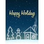 Christmas Art eGift Card - Snowy Landscape - electronic gift card eGift Card