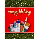 Christmas Art eGift Card - Art Supplies Garland - electronic gift card eGift Card