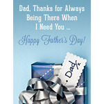 Father's Day Art eGift Card - Thanks Dad eGift Card