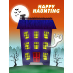 Halloween Art eGift Card - Haunted House - electronic gift card eGift Card