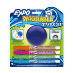 Expo Washable Fine Tip Starter Set of 4 with Eraser - Assorted Colors