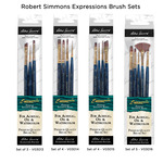 Robert Simmons Watercolor & Decorative Short Handle Wallet Brush Sets