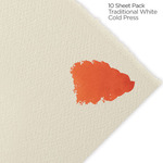 """Fabriano Artistico Watercolor Paper 140 lb. Cold Press 8-Pack with 2 FREE Sheets 22x30"""" - Traditional White"""