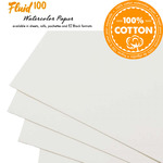 Fluid 100 Professional Watercolor Paper Sheets, Blocks & Pochettes