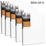 """Fredrix Dixie PRO Series Stretched Canvas 7/8"""" Box of Five 12x24"""""""