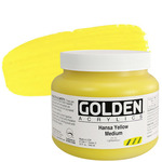 GOLDEN Heavy Body Acrylic 32 oz Jar - Hansa Yellow Medium