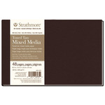 """Strathmore 400 Hard Bound Toned Mixed Media Journal Tan 8.5X5.5"""" 48 Pages"""