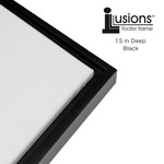 "Illusions Floater Frame for 1-1/2"" Canvas 24x24"" - Black"