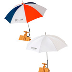 Jullian Patriot & White French Easel Umbrella