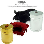 KUM Luxury Artists' Pencil Sharpeners - 24-karat Gold & Chrome Plated