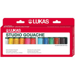 LUKAS Studio Gouache Pro Set of 12 20 ml Tubes