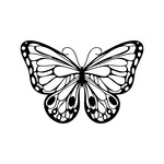 Marabu Silhouette Stencil Romantic Butterfly 6x6 In