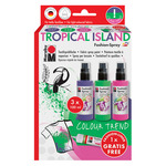 Marabu Fashion Fabric Spray Tropical Island  Set of 4 100 ML