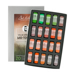 Richeson Hand-Rolled Soft Pastels Set of 20 Value Spectrum: Mids 3