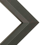"Atlanta .75"" Wood Frame with 2mm glass and cardboard backing 16x20"" - Black"