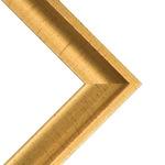 "Birmingham 1"" Wood Frame with acrylic glazing and cardboard backing 24x36"" - Gold"