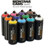 Montana BLACK Matte Spray Paint