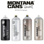 Montana Effect Sprays - MARBLE, CRACKLE, GRANIT, GLITTER & NIGHTGLOW