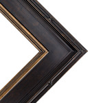 Museum Plein Aire Antique Black W/ Gold Liner Frame 8X10 3.5 In Wide