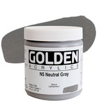 GOLDEN Heavy Body Acrylic 8 oz Jar - Neutral Grey No.5