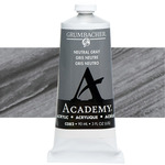 Grumbacher Academy Acrylic 90 ml Tube - Neutral Grey