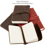 Luxury Italian Leather Bound Sketch Books