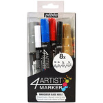 Pebeo 4Artist Marker Set Of 8 Assorted Sized Markers