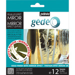 Pebeo Gedeo Mirror Effect Leaf 12 Sheet Pack - Gold