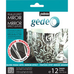 Pebeo Gedeo Mirror Effect Leaf 12 Sheet Pack - Silver