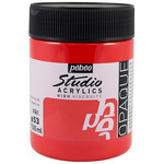 Pebeo Studio Acrylics Dark Cadmium Red Hue 500ML