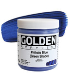 GOLDEN Heavy Body Acrylic 8 oz Jar - Phthalo Blue (Green Shade)