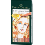 Pitt Brush Pens Wallet Set of 6 - Skin Tones
