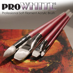 Pro White Professional Acrylic Brushes and Sets - Creative Mark
