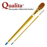 Creative Mark Qualita Golden Taklon Long Handle Brushes