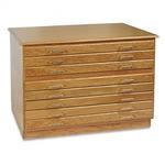 Richeson BEST Oak Flat File 8 Drawers