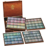 Schmincke Soft Pastels Walnut Stained Wood Box Set of 400 - Assorted Colors