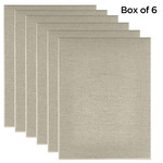 "Senso Clear Primed Linen 3/4"" Box of Six 24x36"""