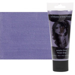 12 Shades of Grey Acrylic Colors 75 ml Tube - Violet Grey