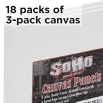 Soho Value 18 X 3 Pack Canvas Panels 18X24