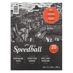 Speedball Printmaking Paper Pad 20 Sheets 8.5X11 In