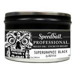 Speedball Pro Relief Ink Can  Supergraphic Black 8 Oz