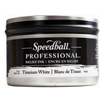 Speedball Pro Relief Ink Can  Titanium White 8 Oz